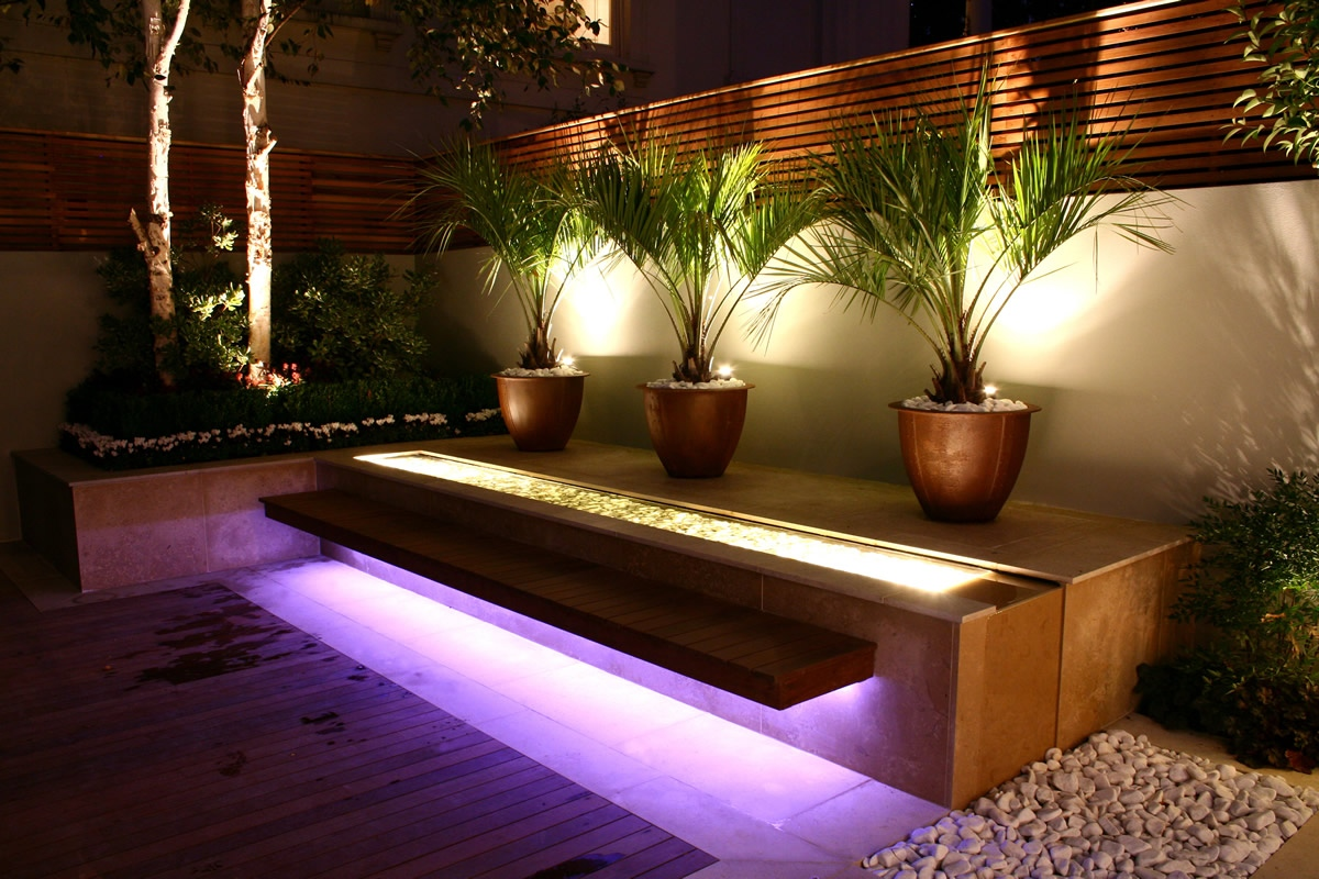 Iluminacion Para Patios Exteriores Contemporary Outdoor Space Designed By Kate Gould Of Kate