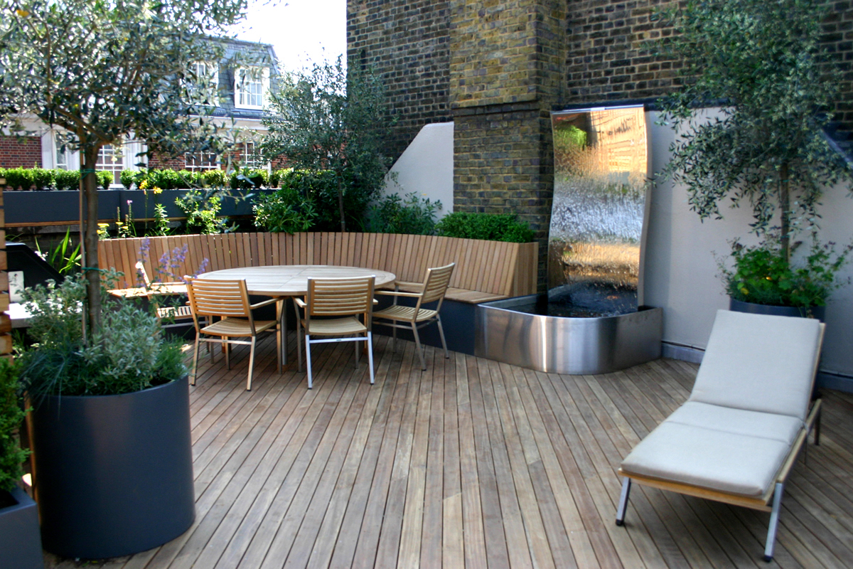 Terrasse Zen Design Contemporary Roof Terrace In Baker Street Marylebone