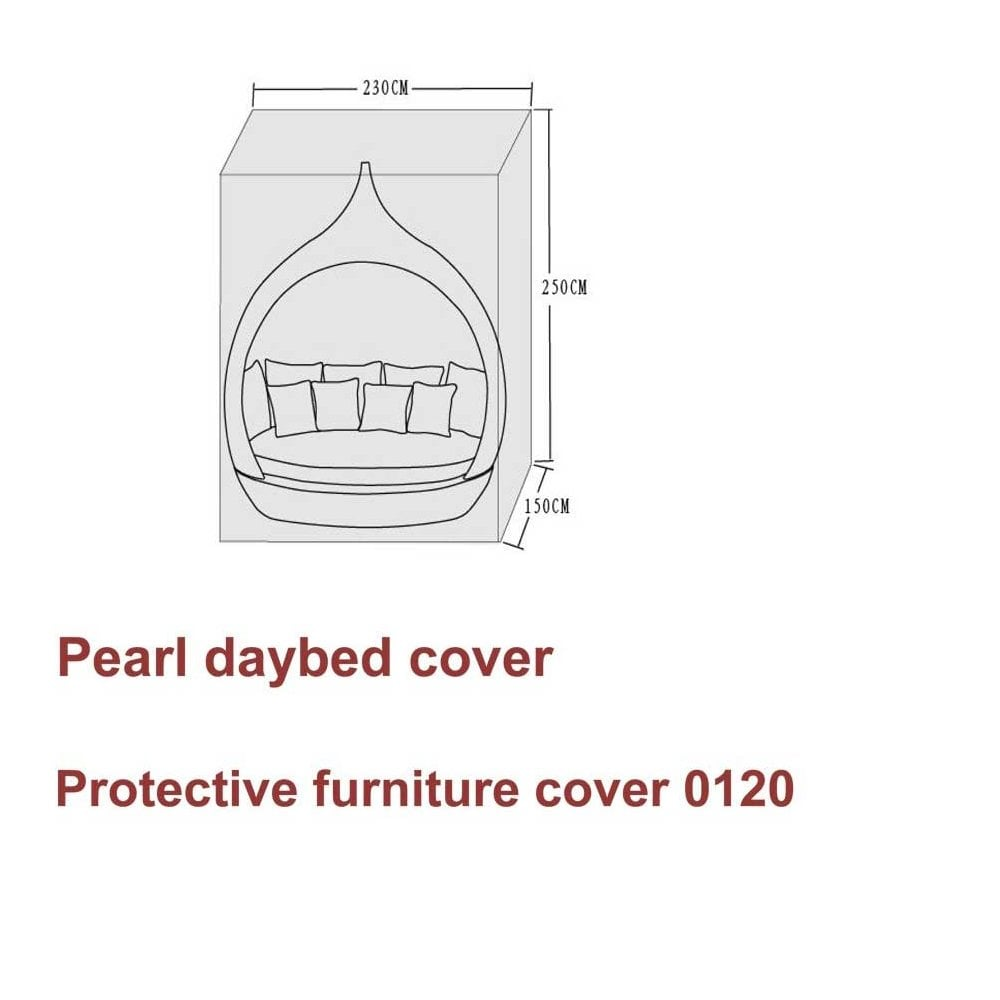 Pearl Daybed Outdoor Signature Weave Protective Furniture Cover For Pearl Day Bed