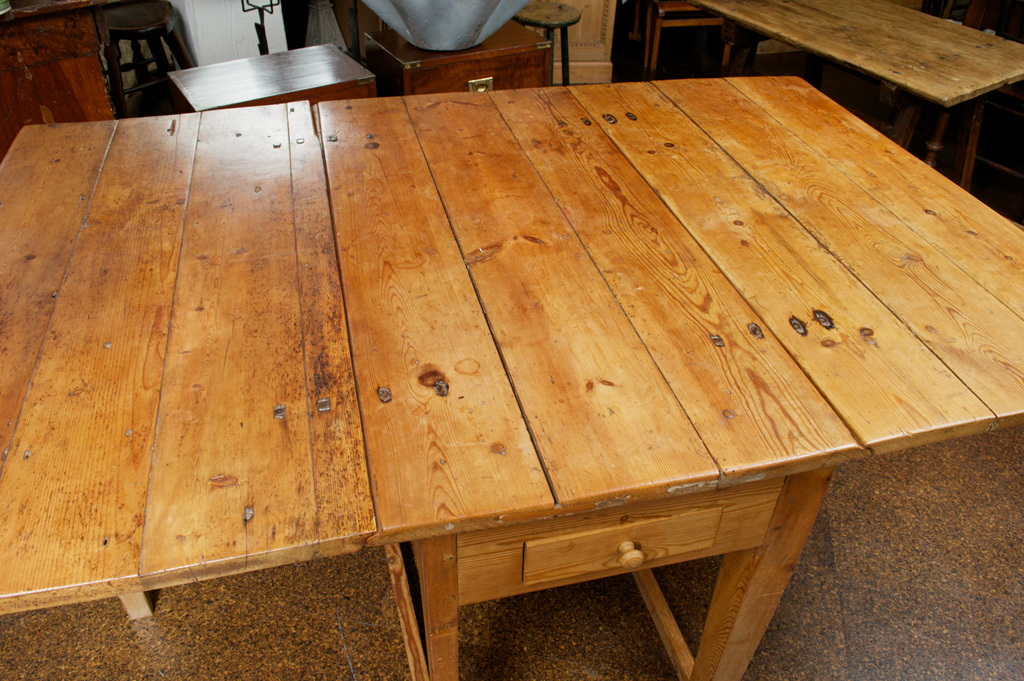Drop Leaf Table Swedish Pine Drop-leaf Table, Circa 1880 - Garden Court