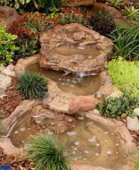 Small Rock Garden Spillway Pond, Preformed Backyard ...