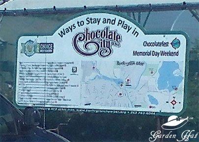 Garden Hat Adventures - Chocolate City Sign
