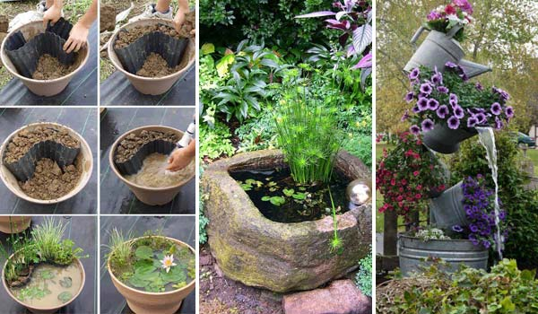 Membuat Pot Dari Botol Bekas 21 Fascinating Low-budget Diy Mini Ponds In A Pot