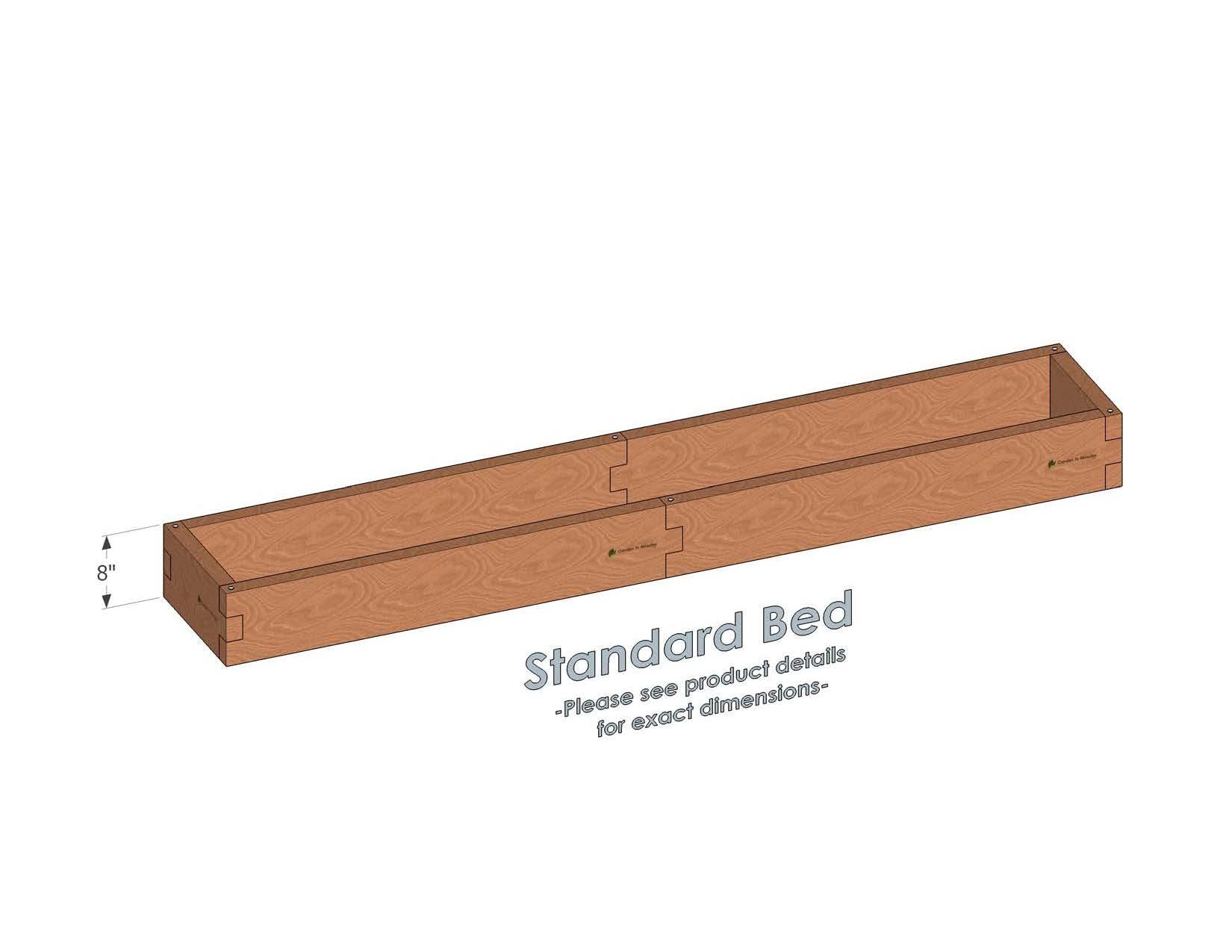 1x8 Raised Garden Bed 1x8 Cedar Bed Garden In Minutes