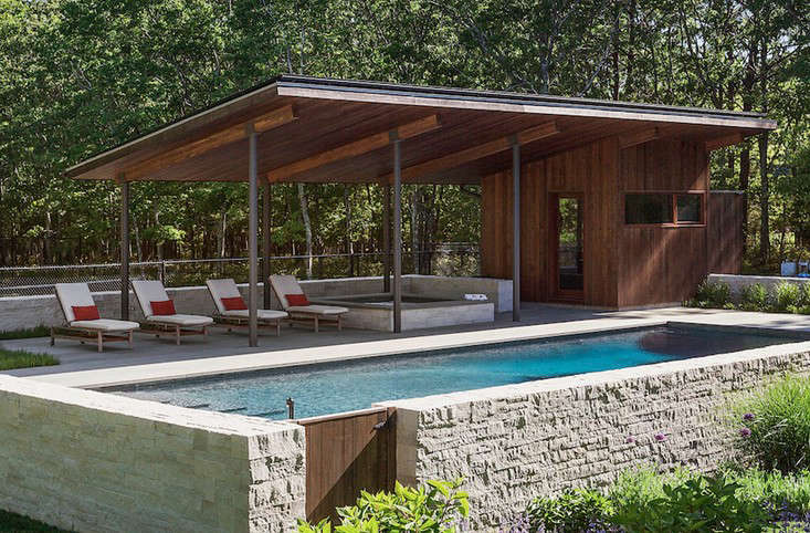 Pool Pavilion Long Island Summer: A Modern Pool Pavilion In Water Mill