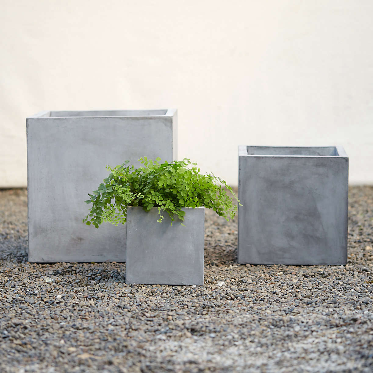 Square Concrete Planter 10 Easy Pieces Portable Concrete Pots Gardenista