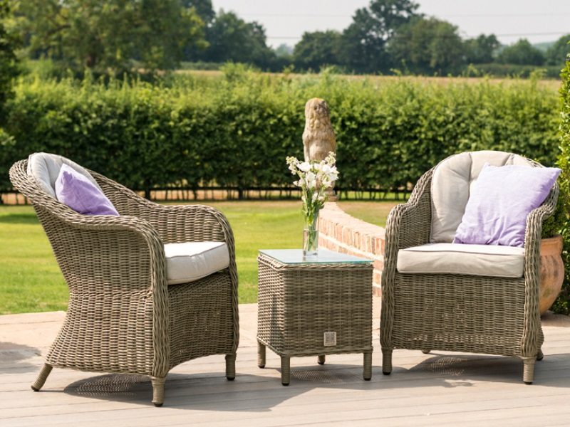 Maze Rattan Winchester 3 Piece Lounge Set Outdoor And