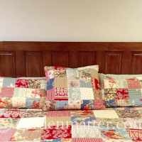 DIY How to Turn an Old Door into a Gorgeous Headboard