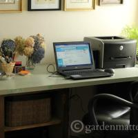 DIY Office Desk from a Door and Cabinets