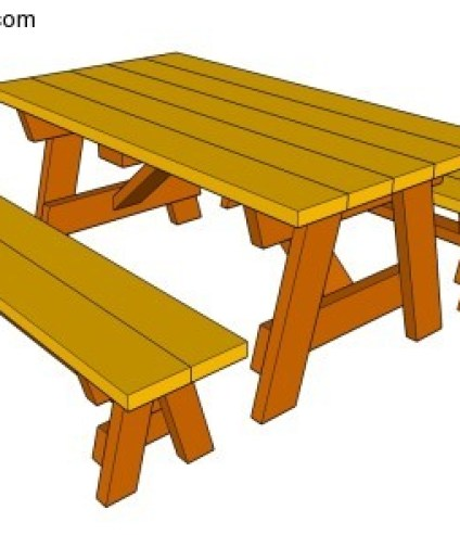 PICNIC TABLE WITH DETACHED BENCHES PLANS FREE
