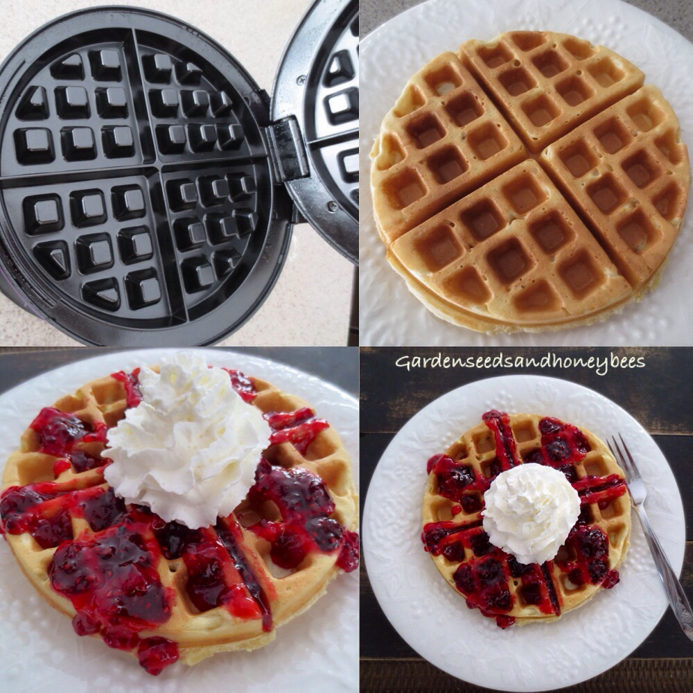 Sour Cream Waffles - Garden Seeds and Honey Bees