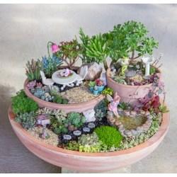 Staggering Fairy Garden Accessories Were Added To Complete Succulent Fairy Garden Tutorial Diy Succulent Fairy Garden Fairy Fairy Garden S On Pinterest Fairy Garden S Remainder