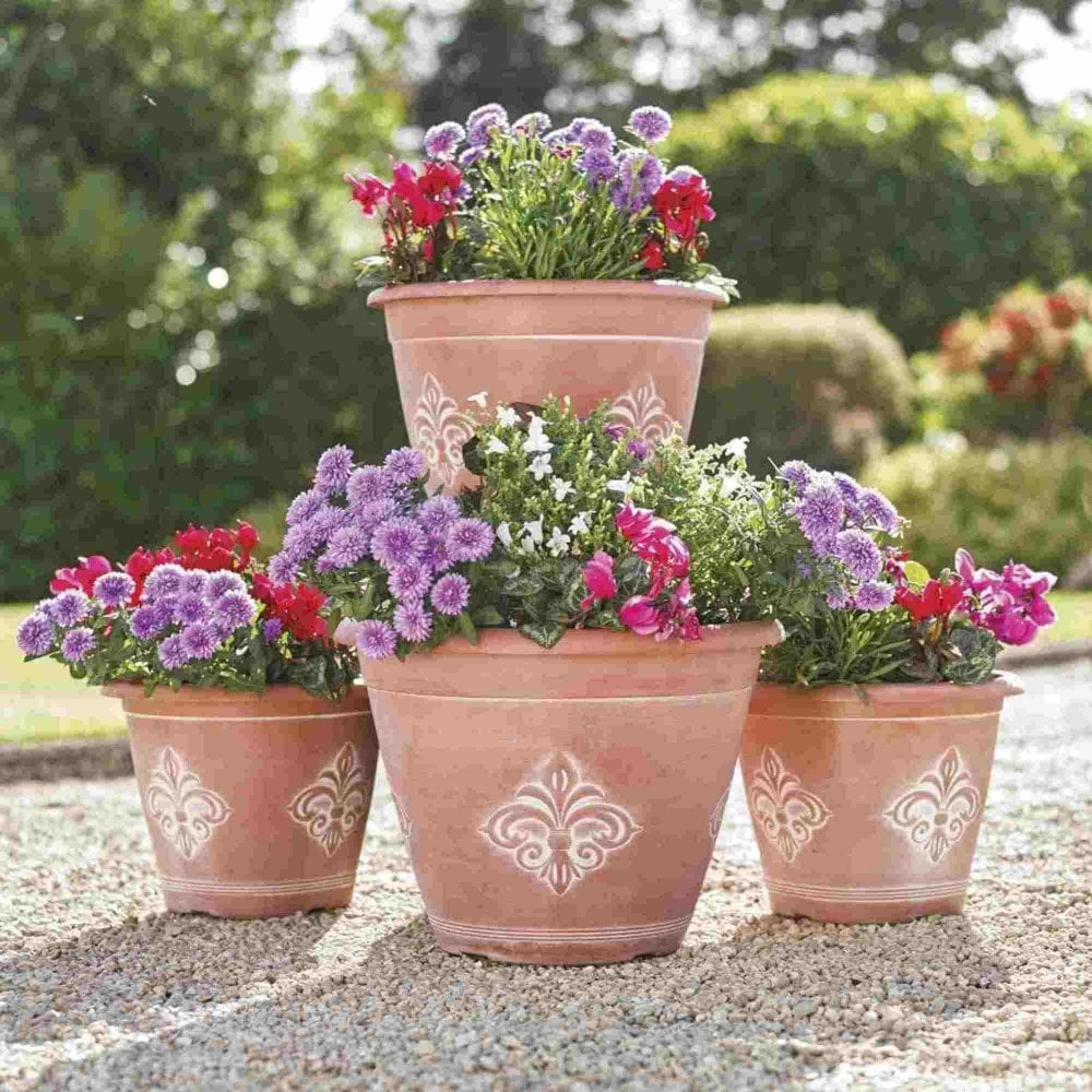Planter Lys En Pot Greenhurst Fleur De Lys Planters Pack Of Four
