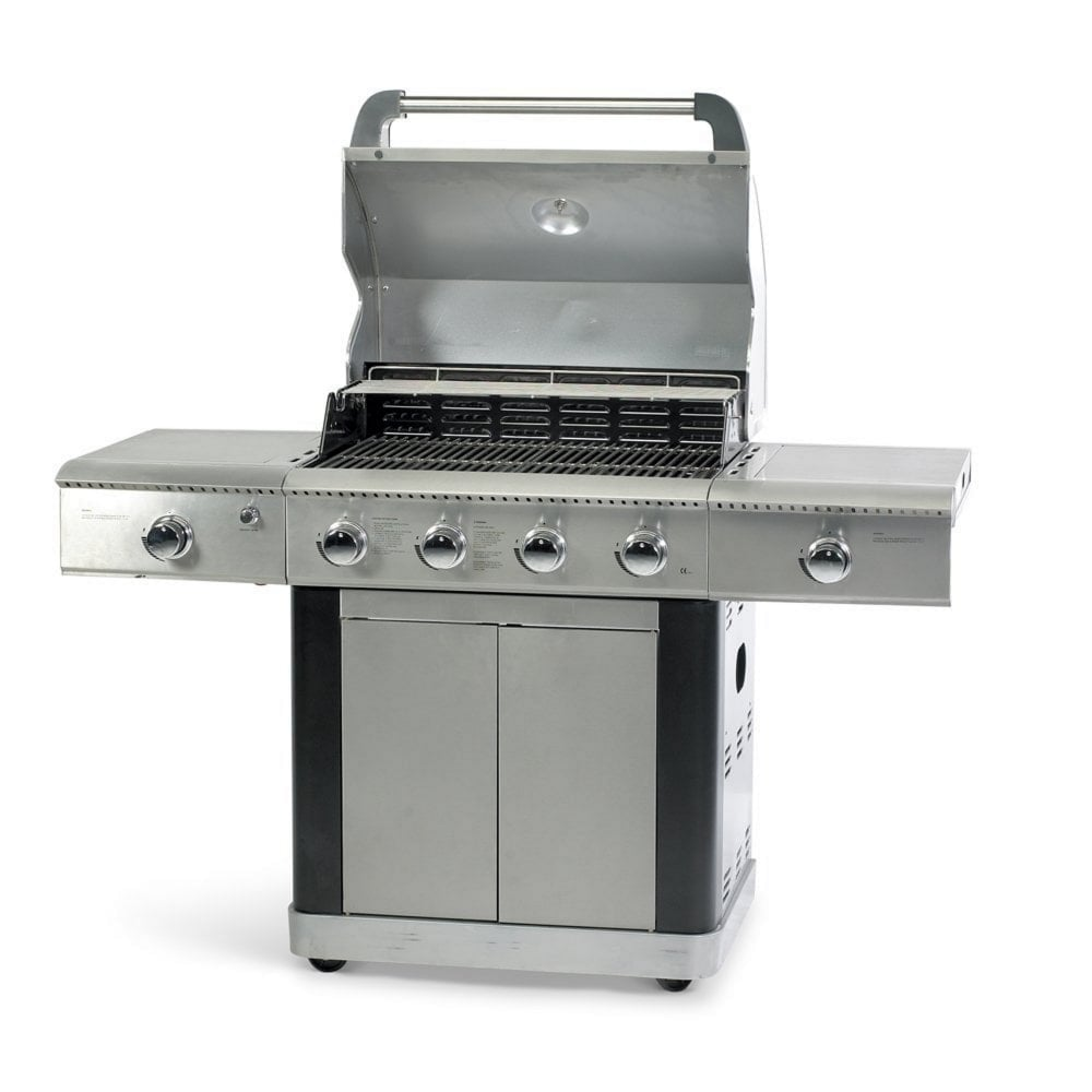 Bbq Hoes Action Platinum 600 Deluxe 4 Burner Gas Bbq