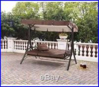 Patio Swing with Canopy Cushions Outdoor Backyard Chair ...