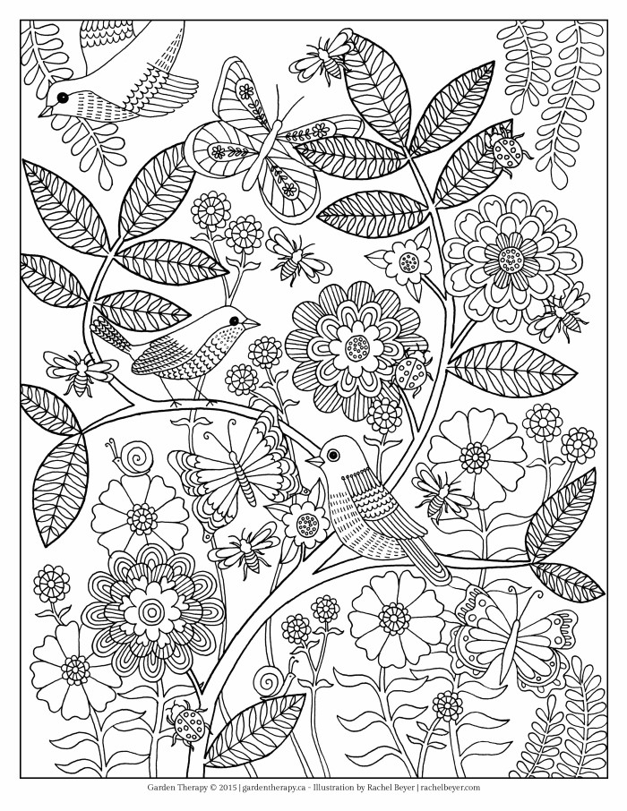 Life\u0027s a Garden Adult Coloring Page