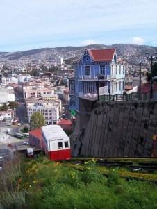 Chile, Valparaiso - funicular