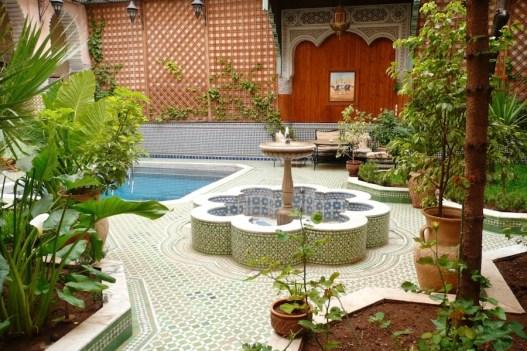Morocco, Marrakesh - Riad Jaouhara's courtyard. Photo Linda Green