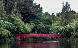 Poet's Bridge, Pukekura Park, New Plymouth Photo russellstreet