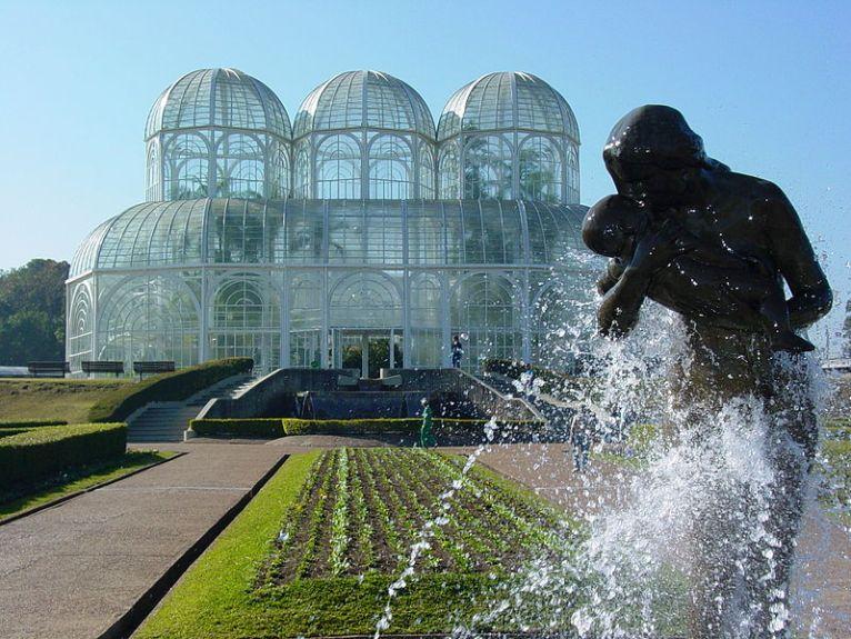 Sculpture in Botanical Gardens, Curitiba, Brazil. Photo by Adam Jones adamjones.freeservers.com