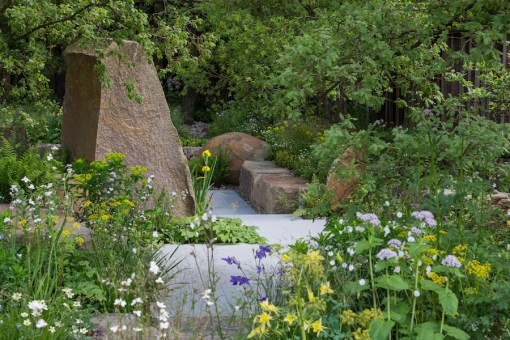 The M&G Garden. Designed by Cleve West. Sponsored by M&G. Sponsored by: M&G. RHS Chelsea Flower Show 2016.