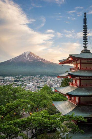 Chureito Pagoda with Mountain Fuji