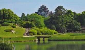 Okayama Castle from Koraku-en Garden, Okayama