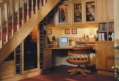 Использование пространства под лестницами - Обстановка ...