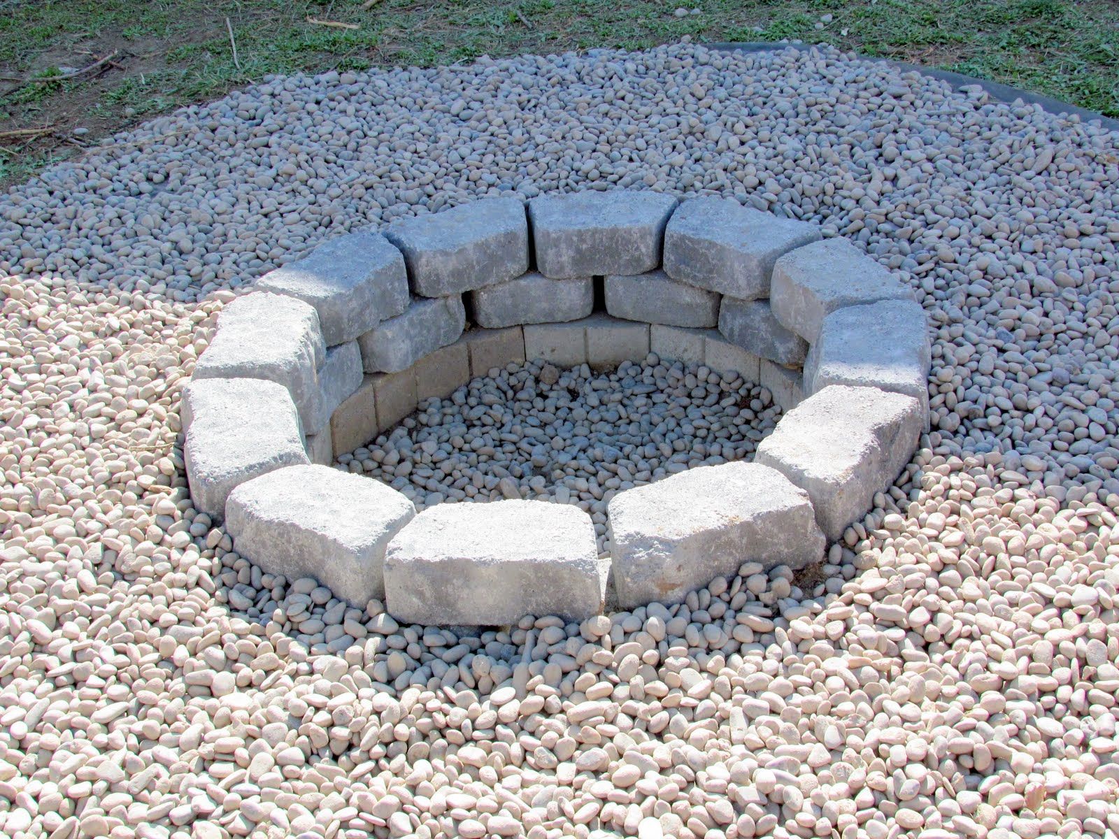 Review In Ground Stone Fire Pit Garden Landscape