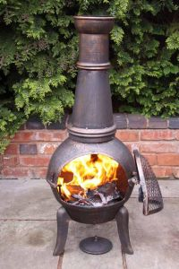 Benefits Wood Burning Chiminea Fire Pit   Garden Landscape