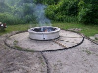 Astonishing Round Concrete Fire Pit   Garden Landscape