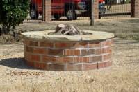 Improbable Brick Fire Pit Pictures | Garden Landscape