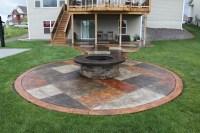 Cheap Fire Pit In Concrete Patio | Garden Landscape