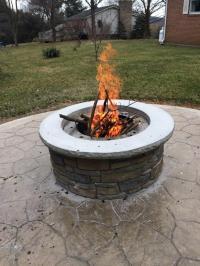 Incredible Making A Concrete Fire Pit | Garden Landscape
