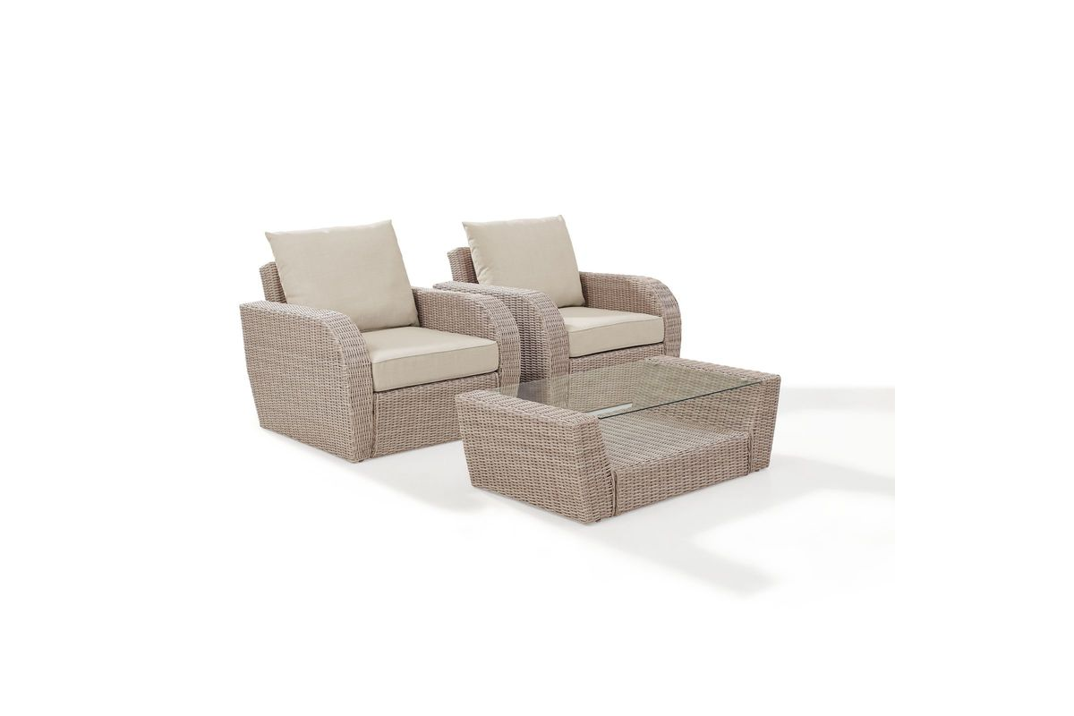 3 Piece Outdoor Table And Chairs St Augustine 3 Piece Outdoor Chairs And Coffee Table Set