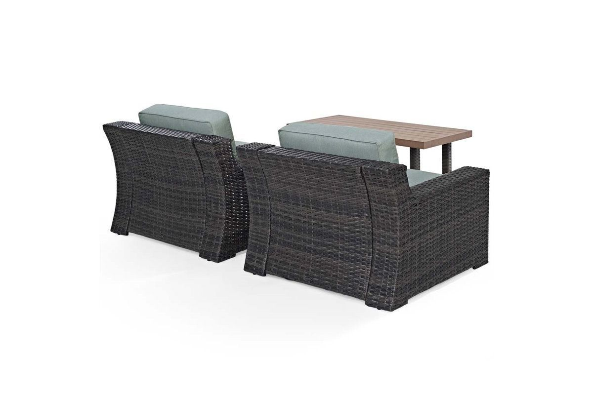 3 Piece Outdoor Table And Chairs Beaufort 3 Piece Outdoor Chairs And Coffee Table Set By