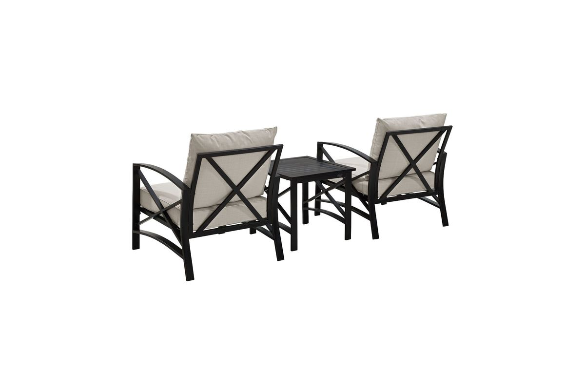 3 Piece Outdoor Table And Chairs Kaplan 3 Piece Outdoor Chairs And Side Table Set With