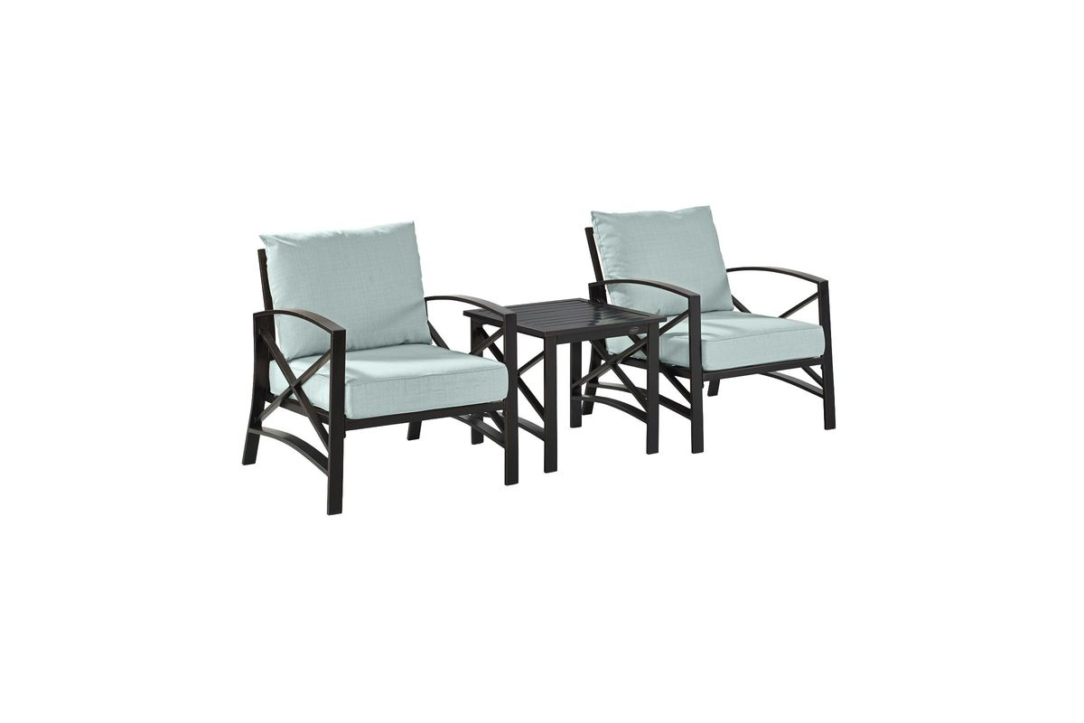 3 Piece Outdoor Table And Chairs Kaplan 3 Piece Outdoor Chairs And Side Table Set With Mist
