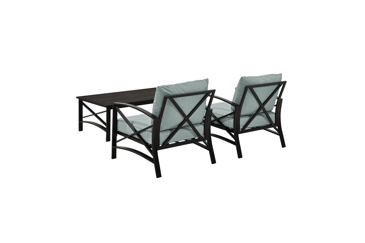 3 Piece Outdoor Table And Chairs Kaplan 3 Piece Outdoor Chairs And Coffee Table Set With