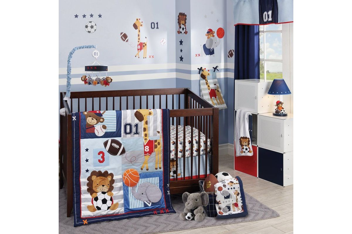 Full Crib Bedding Sets Future All Star 4 Piece Crib Bedding Set By Lambs Ivy