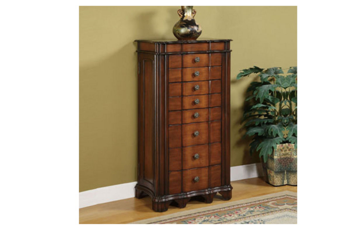 Armoire Habits Masterpiece Cherry Burl Jewelry Armoire