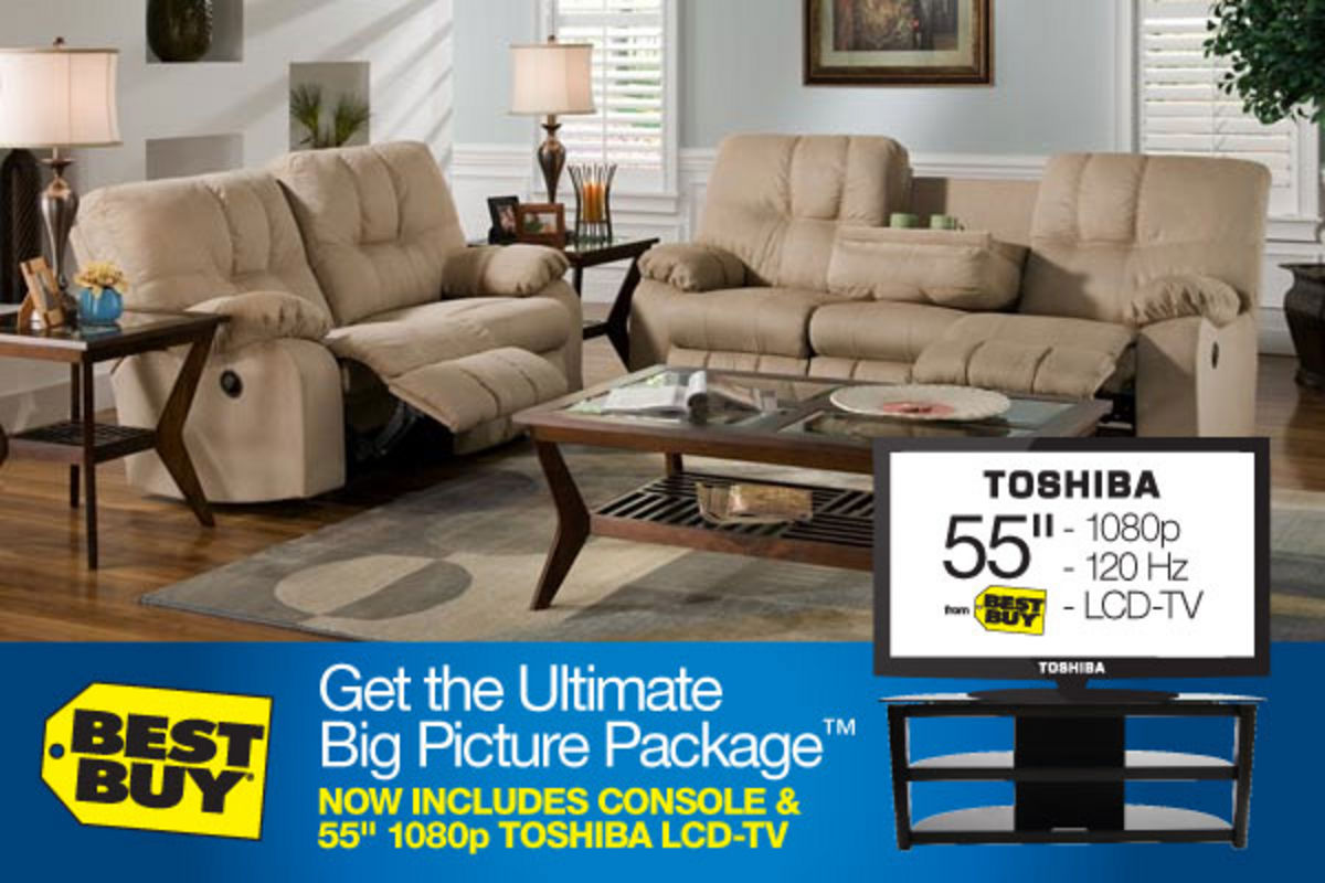 Big Sofa Fawn Safara Fawn Ultimate Big Picture Package With 55