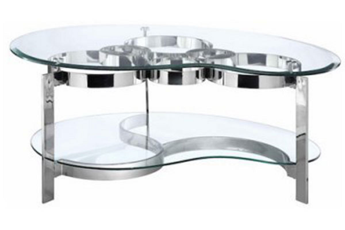 Chrome Coffee Table Curvy Chrome And Glass Cocktail Table At Gardner White