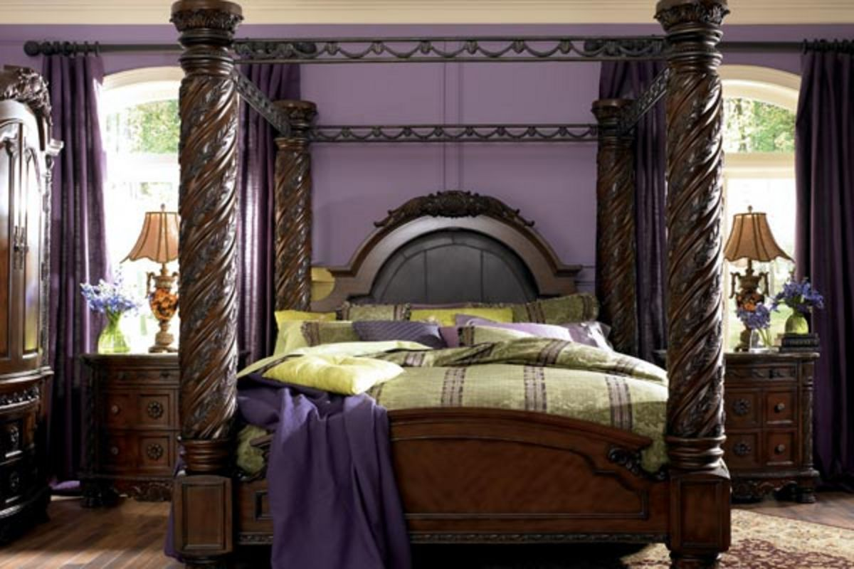 White Four Poster King Bed North King Poster Bed