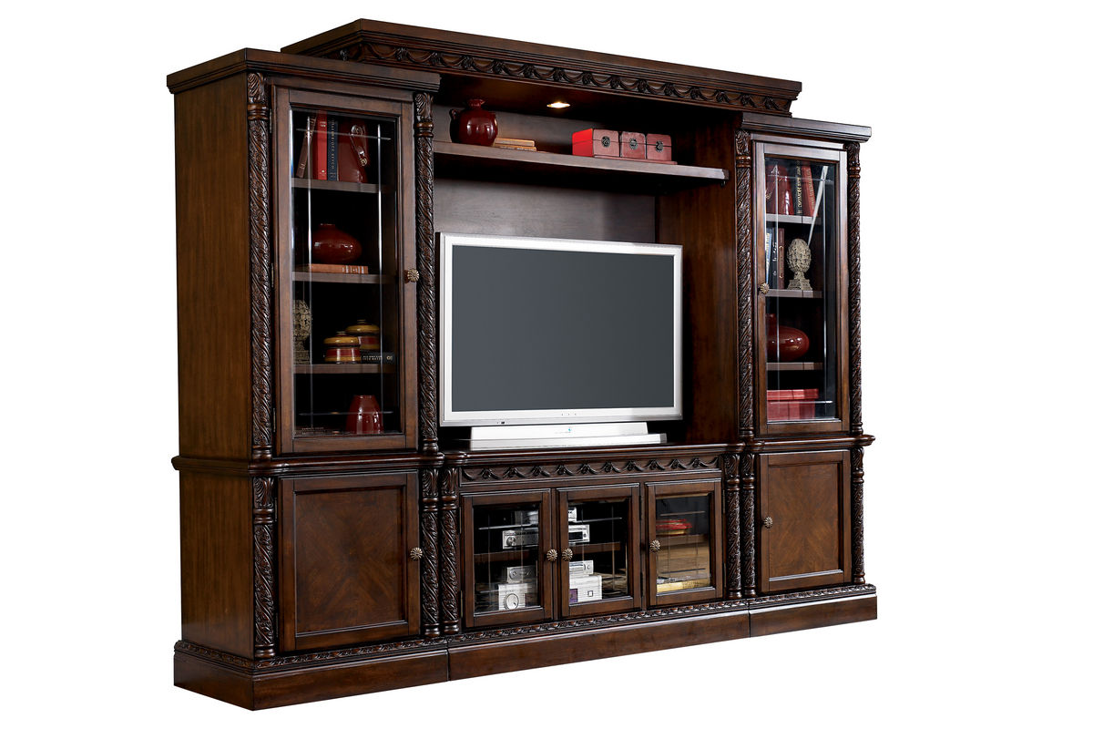 White Entertainment Wall Unit North Four Piece Entertainment Wall Unit At Gardner White