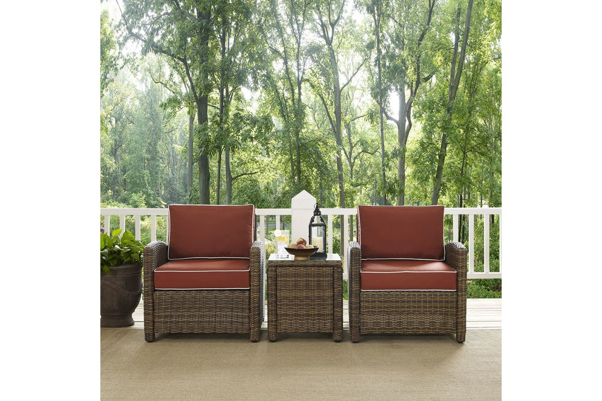 3 Piece Outdoor Table And Chairs Bradenton Sangria 3 Piece Outdoor Chairs And Table Set By