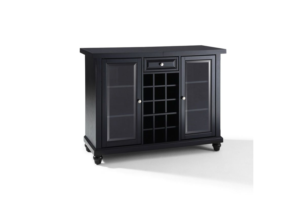 Crosley Furniture Cambridge Expandable Bar Cabinet Cambridge Sliding Top Bar Cabinet In Black By Crosley At