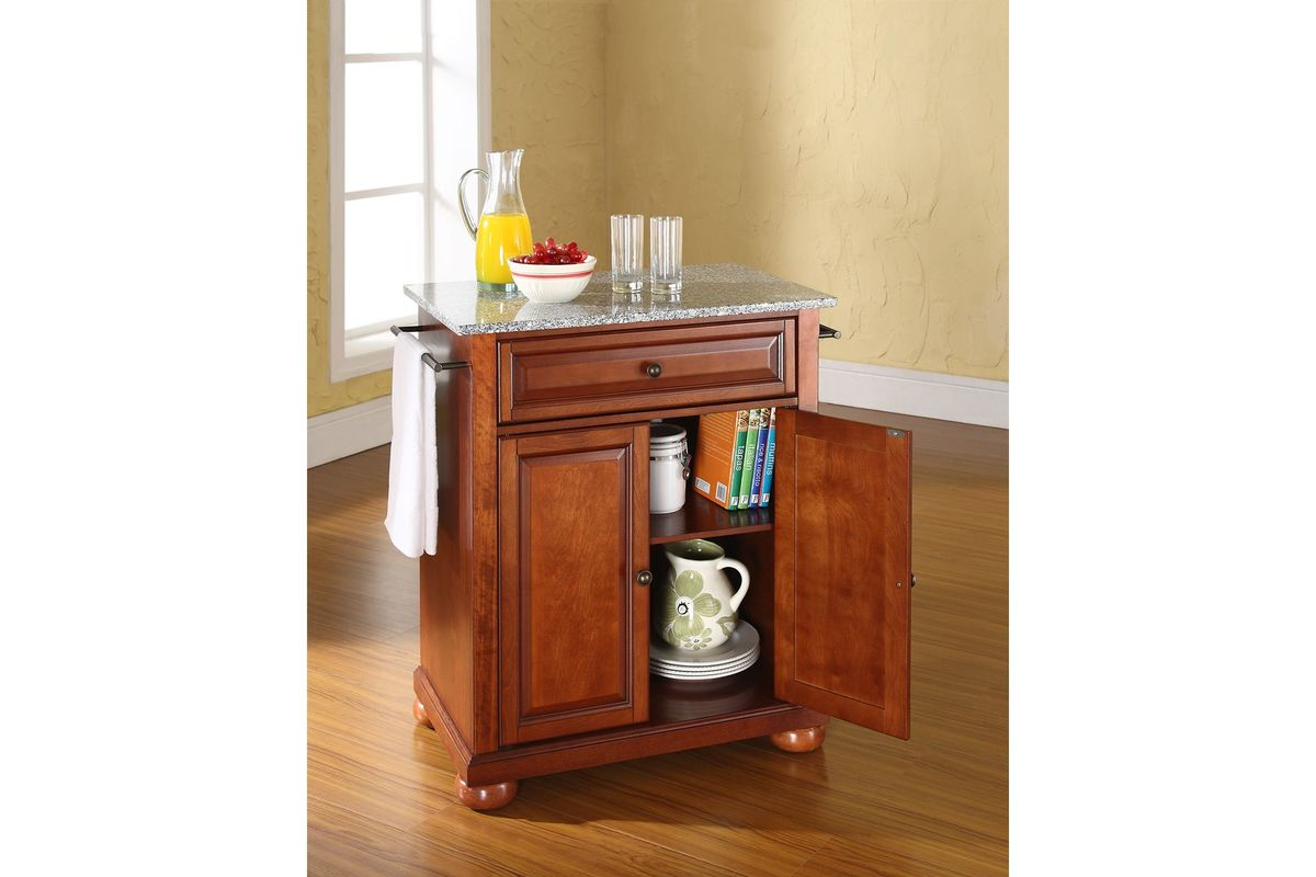 Portable Kitchen Island With Granite Top Alexandria Solid Granite Top Portable Kitchen Island In