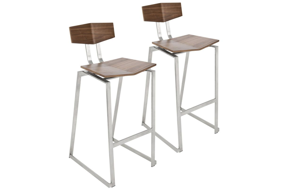 Stainless Bar Stools Flight Contemporary Stainless Steel Counter Stool In
