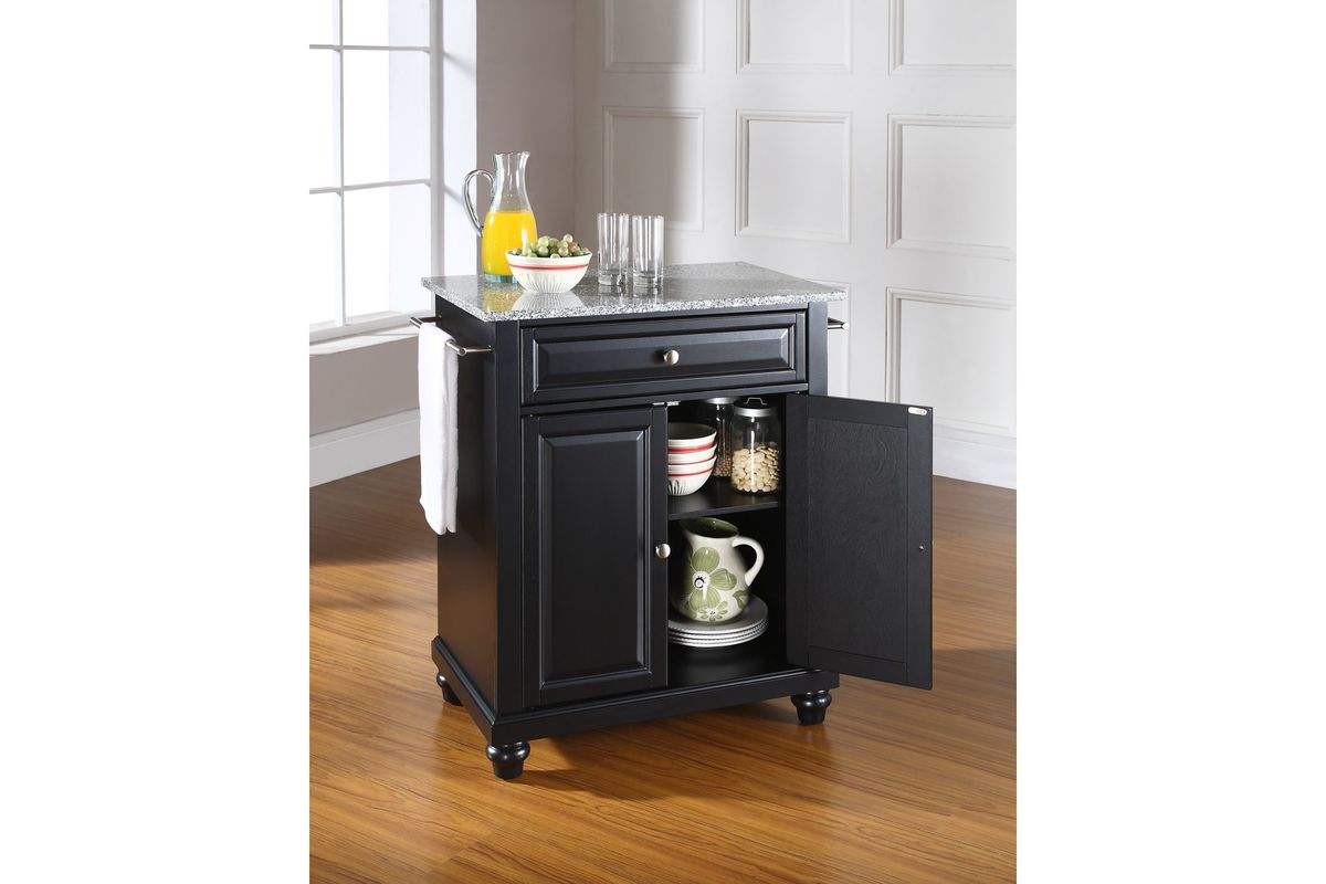 Portable Kitchen Island With Granite Top Cambridge Solid Granite Top Portable Kitchen Island In